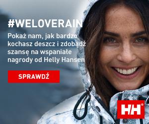 Helly Hansen zachęca do wzięcia udziału w konkursie #WeLoveRain.