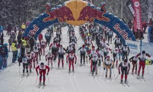 Competitor/s perform/s at the Red Bull Bieg Zbojnikow in Bialka Tatrzanska, Poland on January 24th 2015