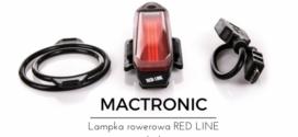 MACTRONIC Tylna lampka rowerowa RED LINE