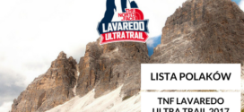 Lista Polaków startujących w TNF Lavaredo Ultra Trail 2017