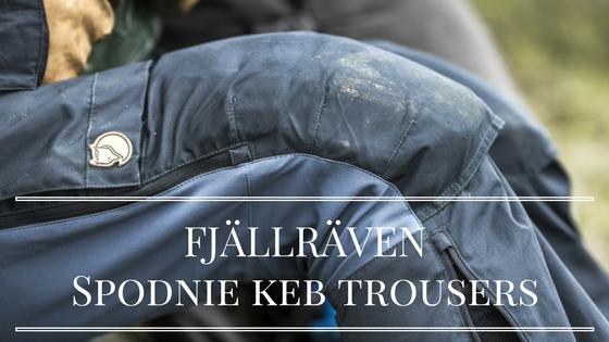 FJÄLLRÄVEN Spodnie trekkingowe KEB TROUSERS