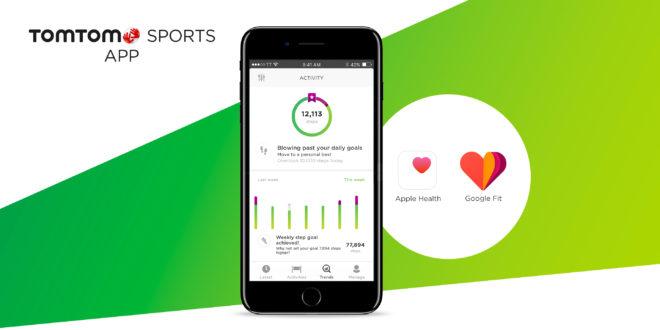 Aplikacja TomTom Sports kompatybilna  z Google Fit i Apple Health