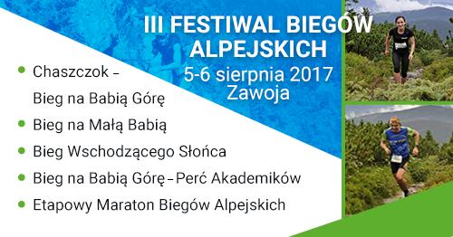 Festiwal Biegów Alpejskich – zapisy tylko do 31 lipca