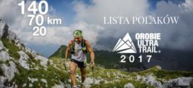 Lista Polaków na Orobie Ultra Trail 2017