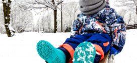 Zima, dziecko, sanki i…Wed`ze!