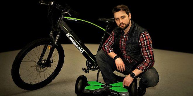 Robert Skawiński ambasadorem nawigacji SmartGPS, elektrycznych deskorolek i rowerów Kawasaki
