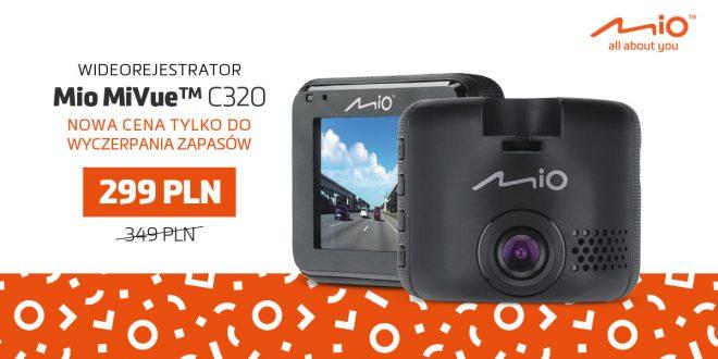Wideorejestrator Mio MiVue C320 w promocyjnej cenie