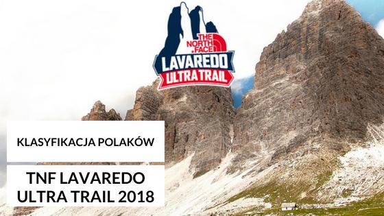 Klasyfikacja Polaków podczas TNF Lavaredo Ultra Trail