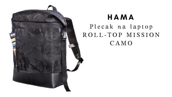 HAMA Plecak ROLL-TOP MISSION CAMO