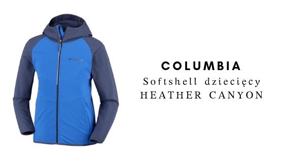 COLUMBIA Dziecięca kurtka softshellowa HEATHER CANYON