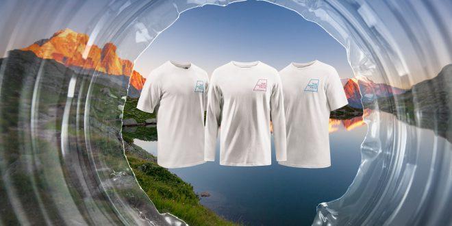 Koszulki The North Face z przetworzonych plastikowych butelek  zebranych w Alpach