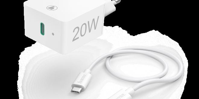 Maksimum wygody z ładowarką sieciową Hama o mocy 20 W z wejściem USB-C i Lightning